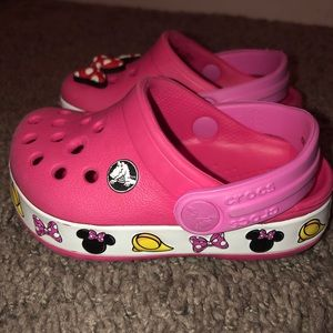 Toddler girl Minnie Mouse crocs!